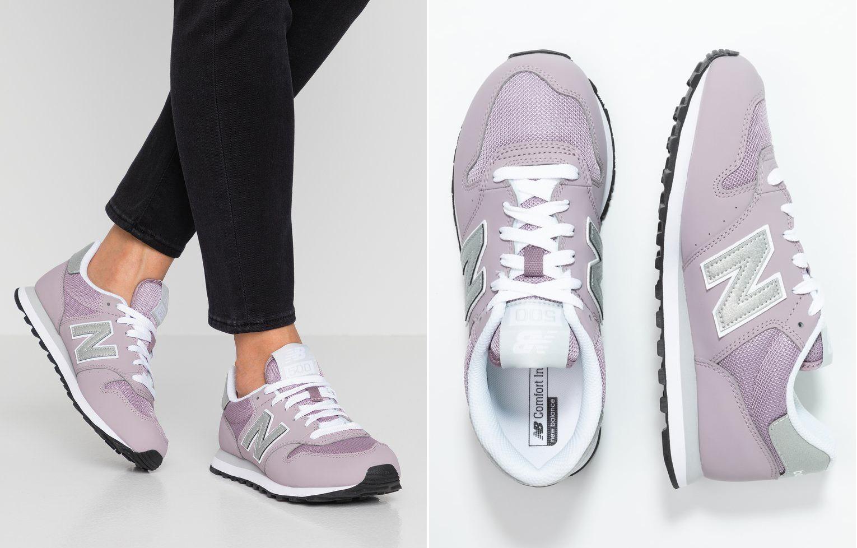 liliowe sneakersy new balance