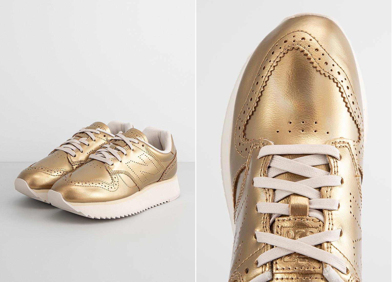 złote sneakersy new balance