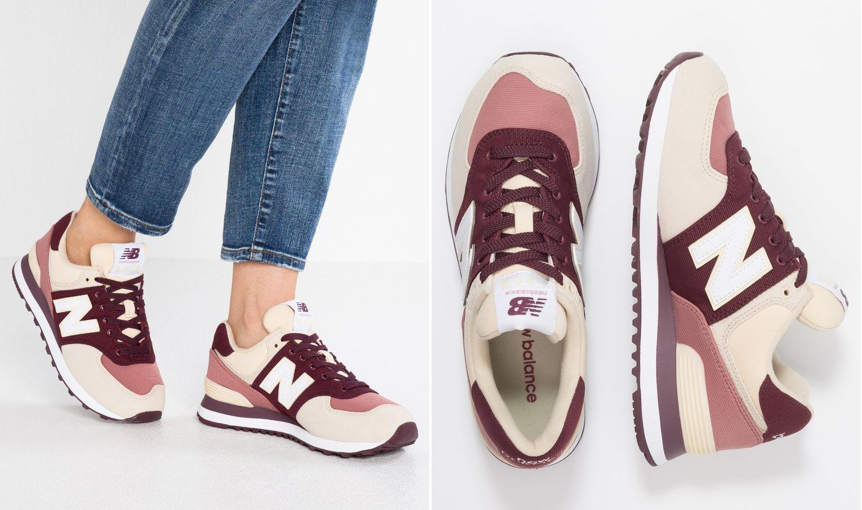 różowo-bordowe sneakersy new balance