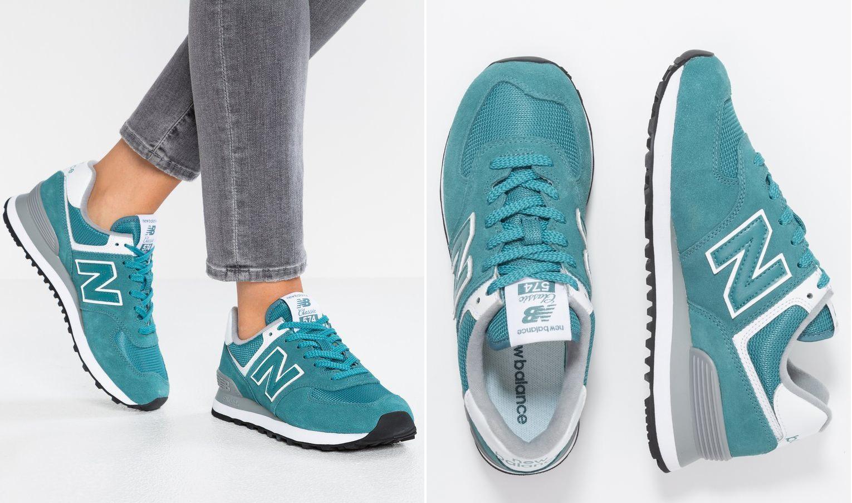 turkusowe sneakersy new balance