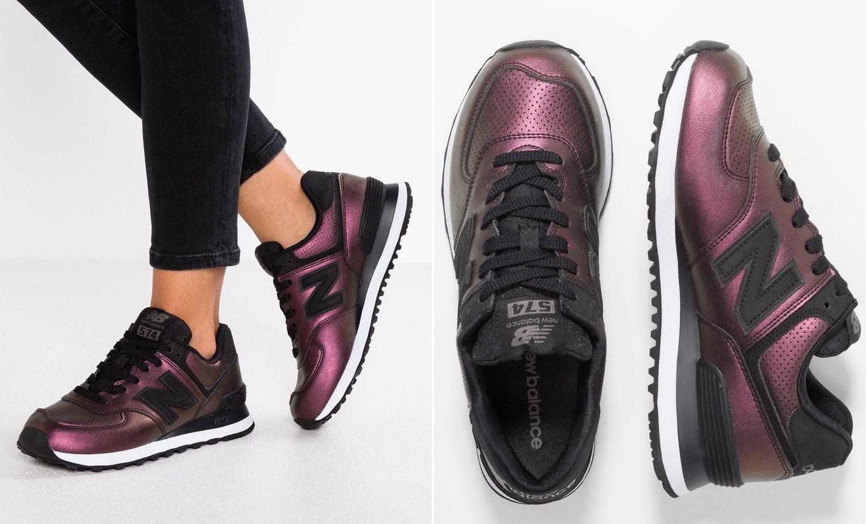 metaliczne sneakersy new balance
