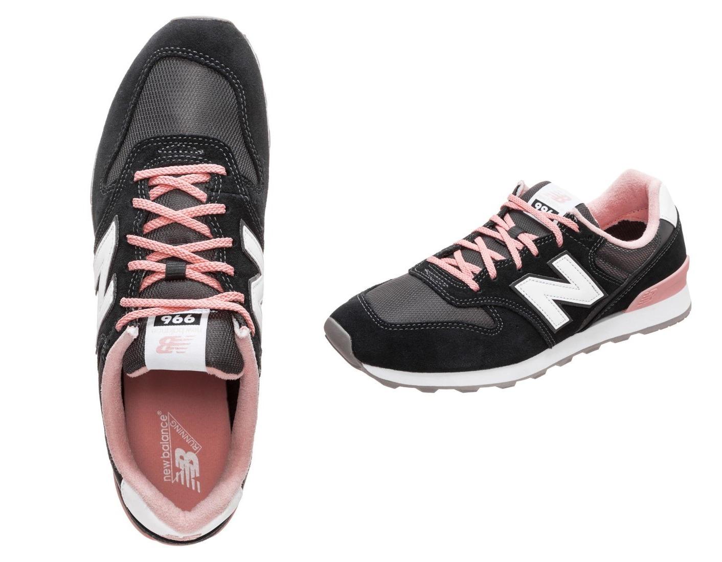 czarno-różowe sneakersy new balance