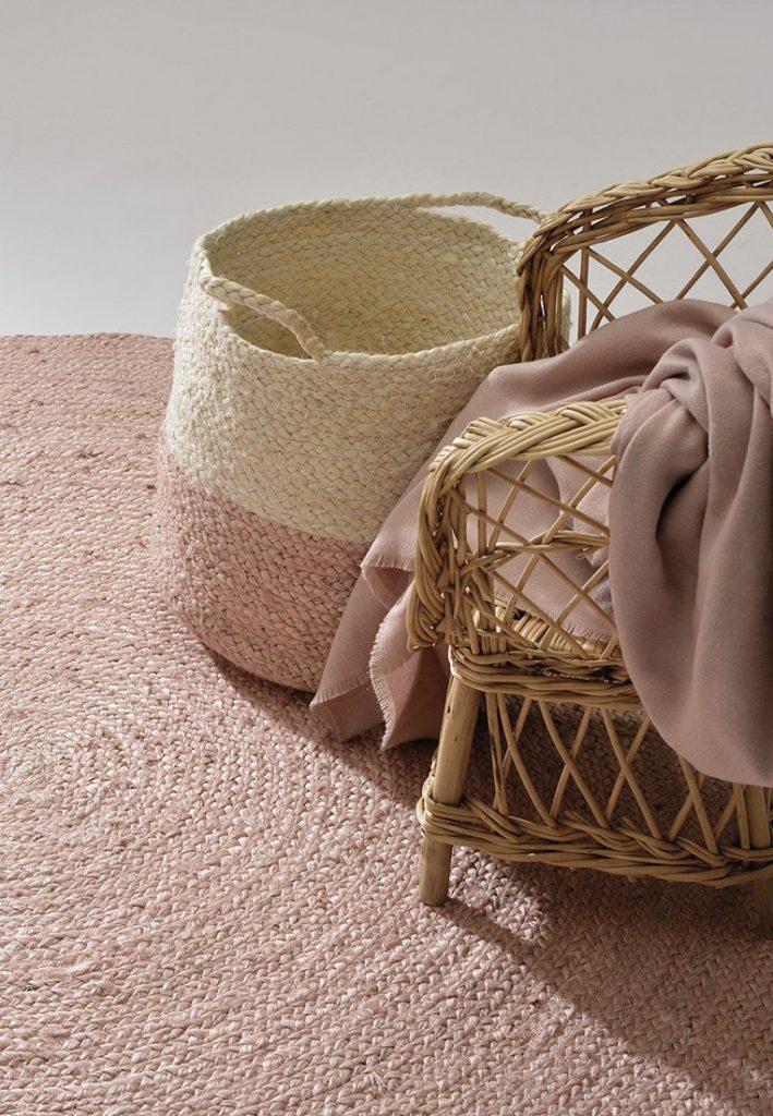 pleciony okrągły dywan